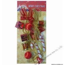 Подарочная коробка из бисера полосы Рождество handmade декоративные гирлянды