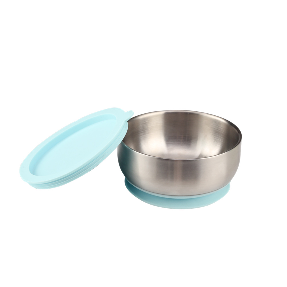 Airtight Lid Stainless Steel Baby Bowl For Home
