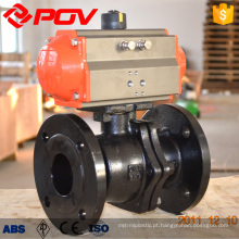 POV made WCB flange connection pneumatic ball valve PN1.6-4.0MPa