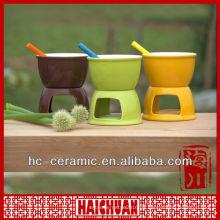 Keramikkäse-Fondue-Set, Mini-Schokoladen-Fondue