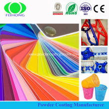 Dry epoxy polyester thermosetting powder coating paint