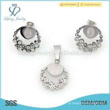 Dignidade jóias de cristal de prata conjuntos de jóias, jóias de luxo conjuntos venda quente