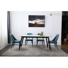 Dining Room with Marble Top and Metal Frame