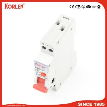 EARTH LEAKAGE CIRCUIT BREAKER KNBL1-32 32A 10mA TÜV