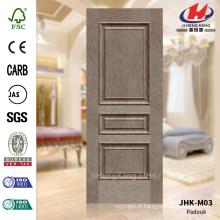 JHK-M03 Bonne qualité Hot Sale Raised Design HDF porte de placage fournisseur de la peau