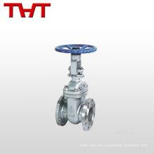 Válvula de puerta falsificada bridada ps de acero inoxidable del agua de 6 pulgadas pn16