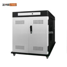 zmezme trade assurance USB charger 2 doors metal cloth laptop/ipad/tablet storage charging cabinet/cart in office furniture