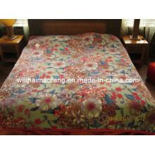 Korean Knitted Raschel Mink Acrylic Blanket