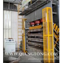 Press machine for hdf door skin/HDF veneer door skin hot press