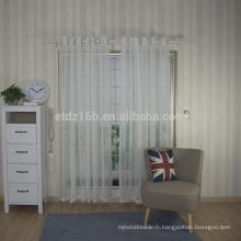 Tissu en rideau en polyester transparent