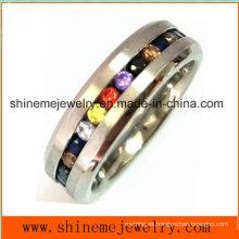 Venta caliente multi colores piedras joyas dedo anillo (czry2557)