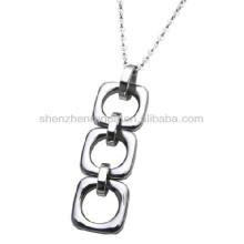 Stainless steel interlink necklace pendants the women fashion jewellery