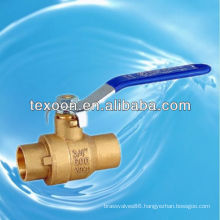 CXC welded upc brass ball valves with solder end lead free(sweat*sweat)