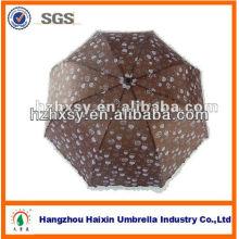 Schokofarbener voller Körper 3 faltbarer Sonnenschirm-Regenschirm