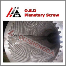 1200kg/h Ausgangsplanetenschneckenzylinder für PVC-Plattenextrusion