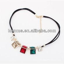 Collier en chaîne collier en forme de collier en strass