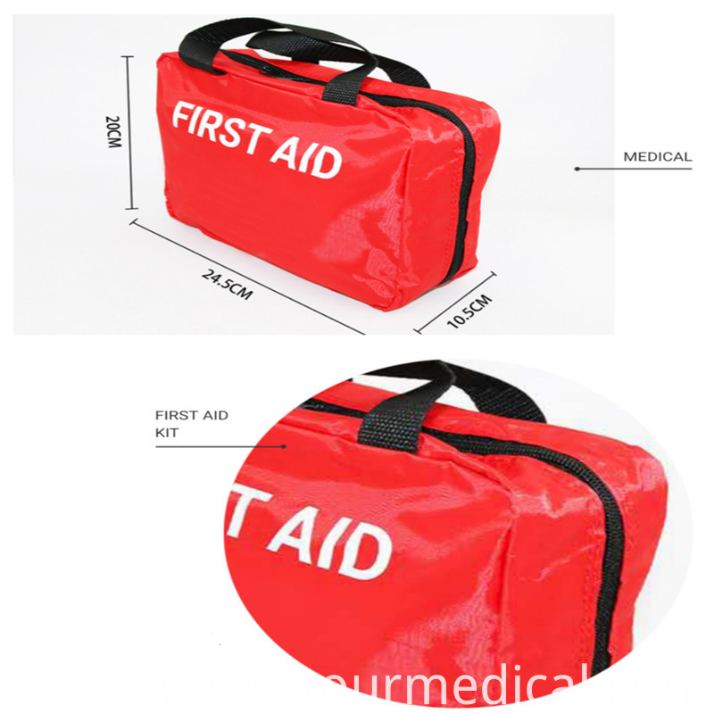 Outside Portable First Aid Kit Bag