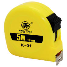 Plastic case steel belt pull tape measure