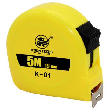Plastic case steel belt pull tape measure