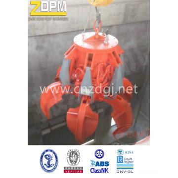 Electric Grab naranja hidráulico para manejo de materiales de barcaza