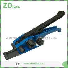Tensioner with Nose Function for Pet and Cord Strapping for Round and Irregular Packages