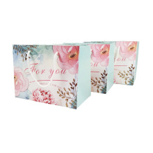 Dekoration-Einkaufstaschen-recyclebares Blumen-Muster-kleine Geschenktüte mit Griffen nette Papiergeschenk-Tasche