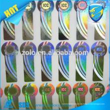De moda a diseñar roll 3d holograma etiqueta adhesiva / anti falsificación etiqueta
