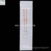 Akupunktur-Nadeln mit Kupfergriff (AFB2-1) (2 Nadeln in einen chirurgischen Schwamm)