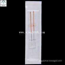 Acupuncture Needles with Copper Handle (AFB2-1) (2 needles into a surgical sponge)