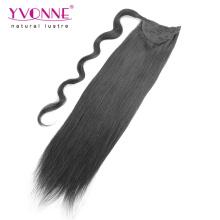 Extensions de queue de cheval de qualité supérieure de cheveux humains