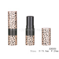 AD009 Round leopard print empty lip balm containers wholesale