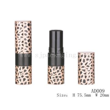 AD009 Envases redondos de bálsamo para labios vacíos de impresión de leopardo al por mayor