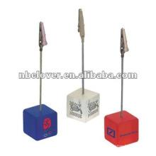 cube shape resin Memo Clip