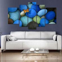 5 Tafel-abstrakte Segeltuch-Kunst