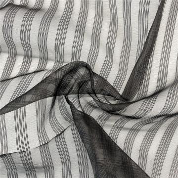 Vente chaude Tyne Strip Organza Tissu en tulle confortable