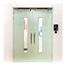 Active double leaf steel door for clean passages in hospitals