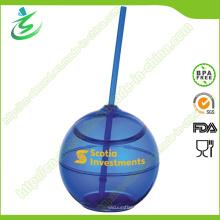 Coupe de paille en plastique écologique de 500 ml sans adhésif (TB-A5)