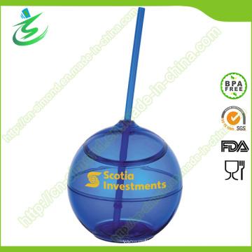 Copo de palha de plástico com ecologia de 500ml e BPA (TB-A5)