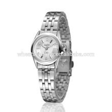 Reloj electrónico de las mujeres baratos relojes de acero inoxidable de la mujer