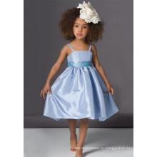 Платье для девочек-цветочниц из спагетти из тафты трапециевидной формы