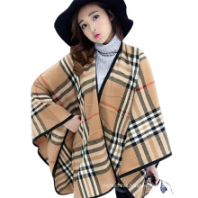 New style 2017 winter ladies fall computer blanket scarf knitted stripe women winter poncho
