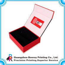 Caja de empaquetado del regalo de la joyería de encargo del libro de gama alta