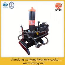 dump truck telescopic hydraulic cylinder system
