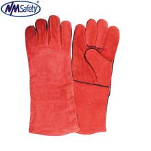 NMSAFETY cow split leather welding work gloves