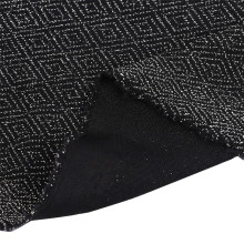 Practical Black Nylon Wire Jacquard Knitting Fabric