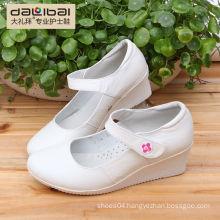 Wholesale 2015 new style wedge heels white leather nurse shoes