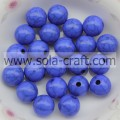 Spacer Charm 6MM Acryl solide Runde Perlen blaue Farbe Crack Beads