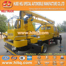 DONGFENG 4x2 HLQ5070GJKE articulated aerial platform truck 14M cheap price hot sale for sale