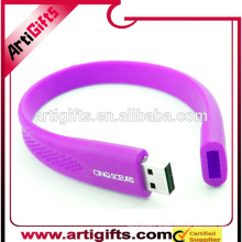 Alibaba china suppliers wholesale silicone custom bracelet usb wristband