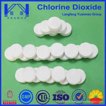 20gram comprimés effervescents de dioxyde de chlore pour le traitement de l'eau potable